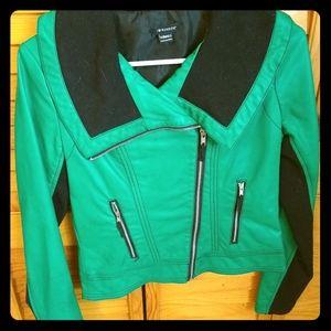 Green pleather jacket